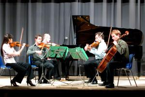 Dvorák quintet rehearsal - Teatro degli Astrusi 2007