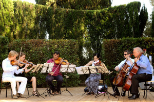 Rehearsal Tchaikovsky Sextet - Villa di Geggiano (Photo: E. Busemann)