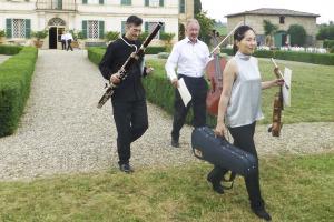Musicians arriving for concert - Villa di Geggiano