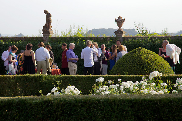 Concert time In the gardens of Villa di Geggiano (Photo: Rob Bouwmeester)