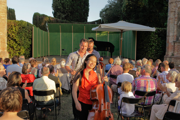 Post concert - Zemlinsky Trio - Villa di Geggiano (Photo; Romain d'Ansembourg)