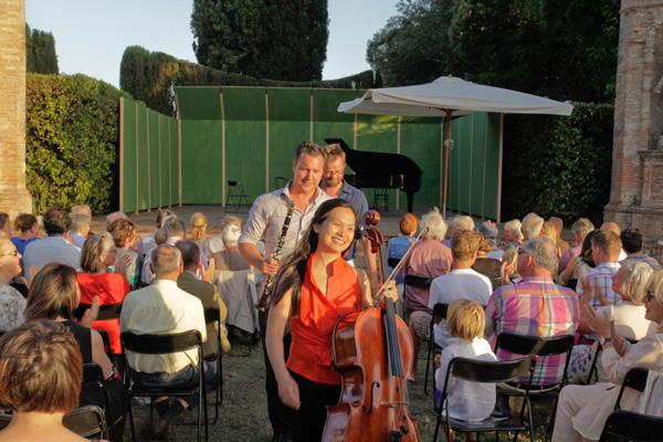 Post concert - Zemlinsky Trio - Villa di Geggiano (Photo; Romain d'Ansembourg)
