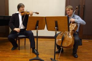 Rehearsal - Liviu Prunaru and Gregor Horsch - Tokyo Yaesu Hall
