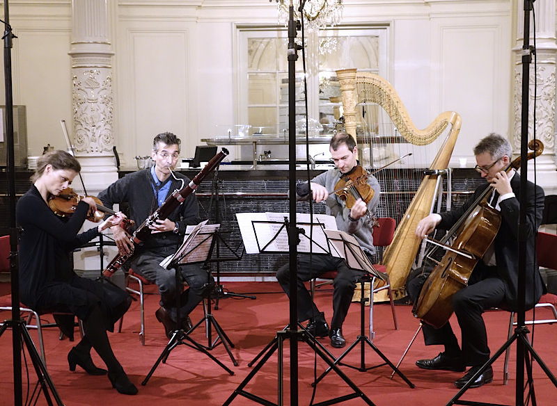 CD presentation, sound test for live radio presentation in the Spiegelzaal, Concertgebouw Amsterdam (18 October 2015)