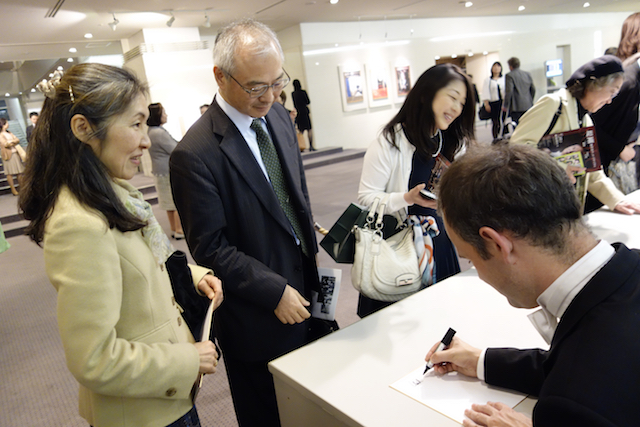 Post concert signing, Hamarikyu Asahi Hall, Tokyo