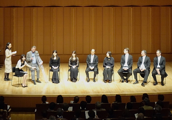 Interview at sponsor concert, Hamarikyu Asahi Hall, Tokyo