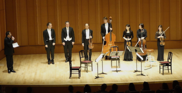 Acknowledgement at sponsor concert - Hamarikyu Asahi Hall, Tokyo