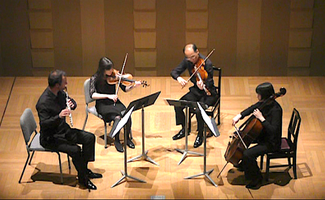 Concert - Fesca flute quartet - The Phoenix Hall, Osaka