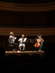 Beethoven string trio concert performance at Yong Siew Toh Conservatory, Singapore (Photo: Christel Hon)