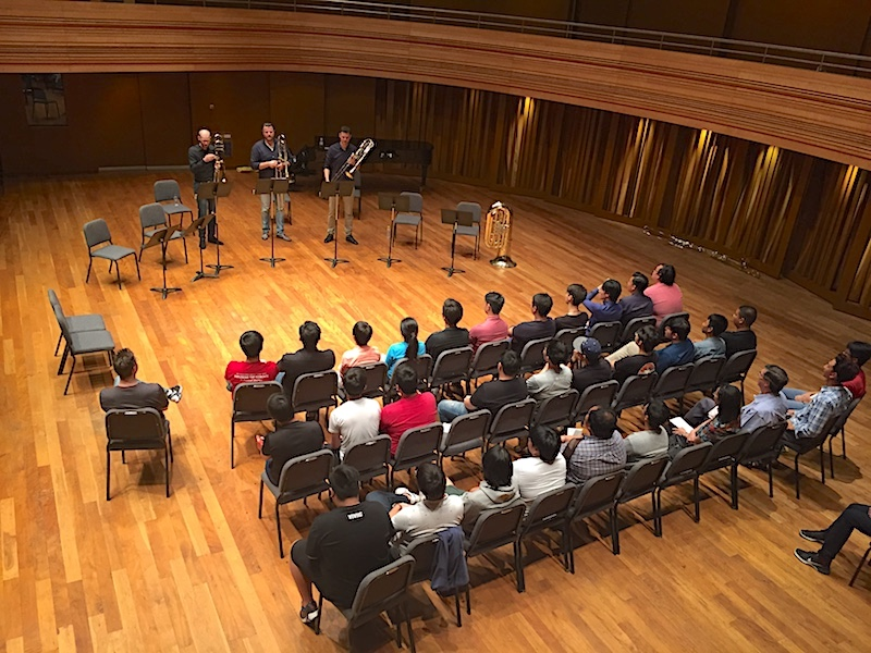 Trombone workshop, Yong Siew Toh Conservatory, Singapore (Photo: Christel Hon)