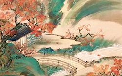 Screen: Autumn colours in Xiling c 1700